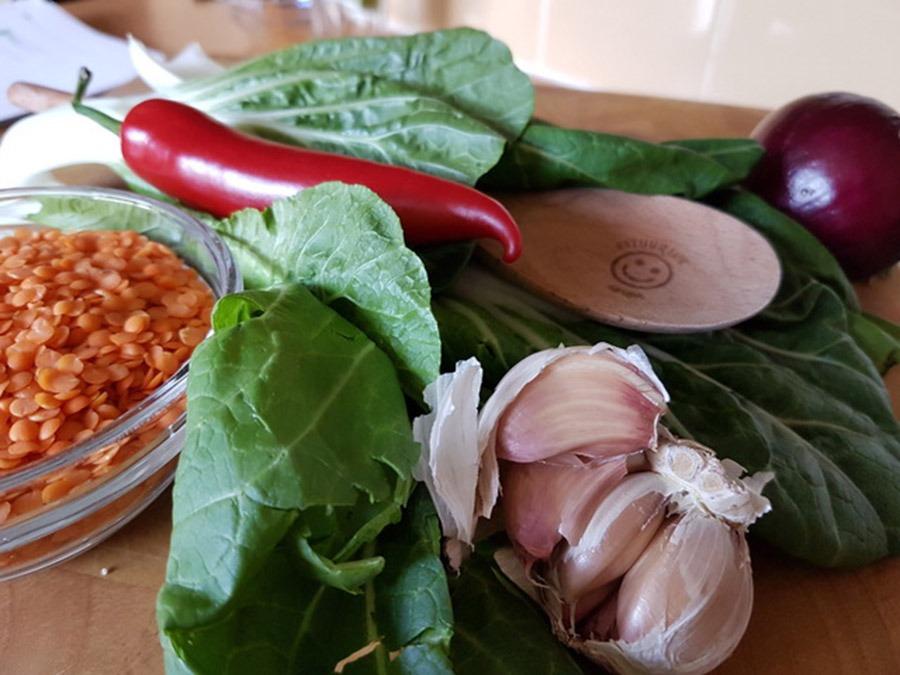 Gerda's spicy curry met bloemkoolrijst